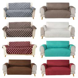 Quilted Sofa Cover Waterproof Nonslip Couch Loveseat Slipcov