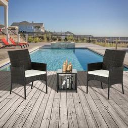 Outdoor Furniture Patio Set Wicker Rattan Conversation Set C