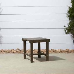 Renaissance Outdoor Patio Wood Side Table