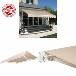 retractable patio awning beige 98 x80