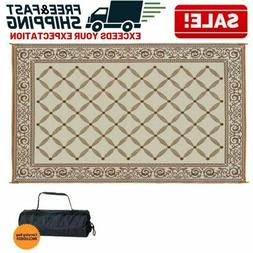 Reversible Outdoor Mat Camping RV Patio Deck Picnic Carpet I