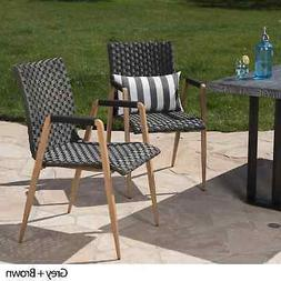 Rocco Outdoor Wicker Dining Chair   by Christopher Multi