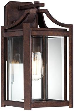"Rockford Collection 16 1/4"" High Bronze Outdoor Wall Sconce"