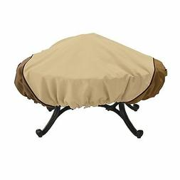 Round Firepit Weatherproof Cover Patio Deck Furniture Protec
