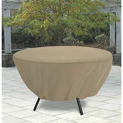 Classic Accessories Round Patio Table Cover Tan 58202