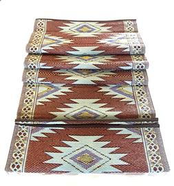 Outdoor Rug 9' X 12' Camping picnic patio Rv mat rugs Revers