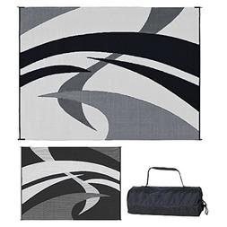 RV Camping Mats 9x12 feet Reversible Patio Awning Travel Out