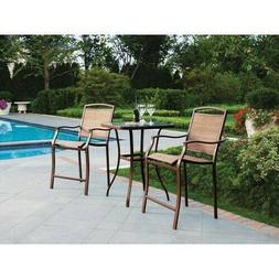 Mainstays Sand Dune 3-Piece High Outdoor Bistro Set, Seats 2