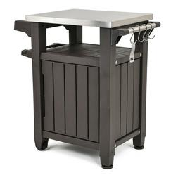 Serving Station Table Grill Cart Prep All-Weather Resin Stor