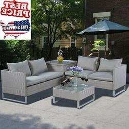 Patio Furniture Sets Clearance Outdoor Sofa Lounger Rattan T