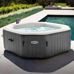 Small Inflatable Pool Jacuzzi Outdoor Hot Tub 4 Person Patio