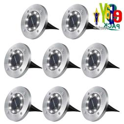 Solar Ground Lights,8 Led Garden Lights Waterproof Patio Out