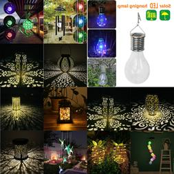 Solar LED Hanging Light Outdoor Garden Wall Patio Wind Chime