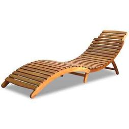 vidaXL Solid Wood Sunlounger Brown Patio Day Sub Bed Outdoor