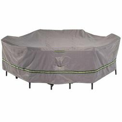 Duck Covers Soteria RainProof Patio Dining Set Cover, Gray,