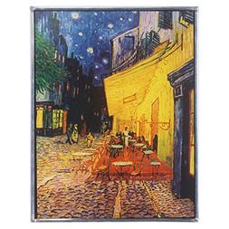 Stained Glass Panel - Van Gogh Cafe Terrace at Night Stained
