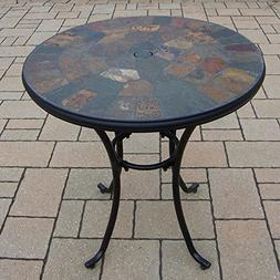 Oakland Living Stone Art Bistro Table, 26-Inch
