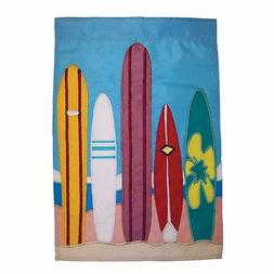 """Surfboards Summer Garden Flag - 12"""" x 18"""" for Lawn or Patio"""