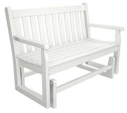 POLYWOOD; Traditional Recycled Plastic 48 in. Outdoor Glider
