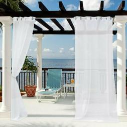 Clothink Translucent Linen Sheer Curtains Patio Indoor Outdo