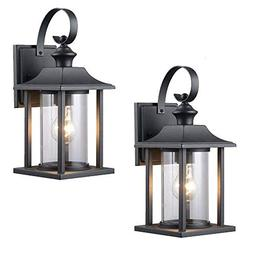 Twin Pack - Designers Impressions 73478 Black Outdoor Patio/