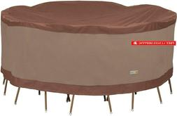Duck Covers Ultimate Round Patio Table With Chairs Cover, 90