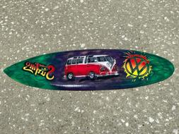 VW BUS AIR BRUSHED CARVED WOOD SIGN WALL ART TROPICAL PATIO