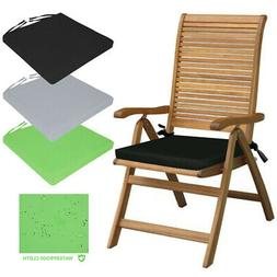 WATERPROOF Chair Cushion Seat Pads REMOVABLE COVER Patio Tie