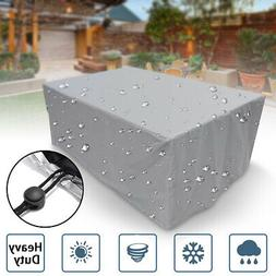 Waterproof Garden Patio Furniture Cover Rattan Dining Table