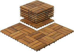 Wooden Floor Tiles Interlocking Solid Teak Wood Outdoor Spa